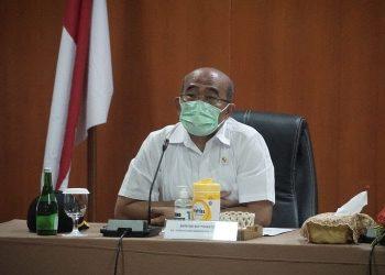 Menteri Koordinator Bidang Pembangunan Manusia dan Kebudayaan (PMK) Muhadjir Effendy di kantor Taman Wisata Candi Borobudur, Rabu (17/2/2021). (Dok. KOMPAS.COM)